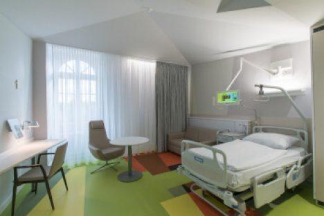 Ein Zimmer im Krankenhaus St. Elisabeth in Halle